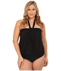 Miraclesuit Mojito Top Dd Cup Solid Black Women's Swimwear
