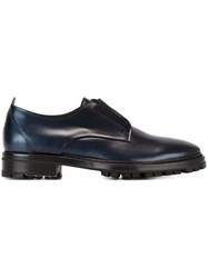 Lanvin Slip On Derby Shoes Blue