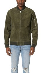 Obey Pilot Suede Jacket Army