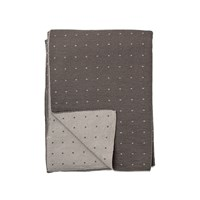 Bloomingville Knitted Throw Cool Grey With Dots