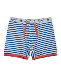 Penguin Striped Jersey Boxers White Blue Orange
