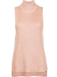 Obey Knitted Tank Top Pink Purple