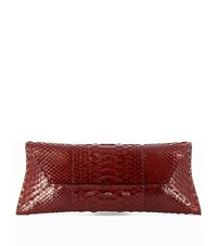 Vbh Manila Small Python Clutch Bag Female Merlot