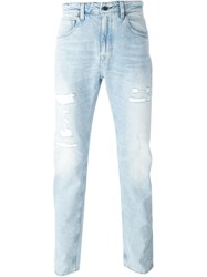 Levi's Made And Crafted Distressed Jeans Blue