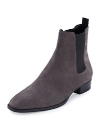 Saint Laurent Eddie Suede Chelsea Boot Gray Grey