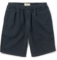 Folk Linen And Cotton Blend Shorts Blue