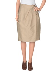 Fabrizio Lenzi Knee Length Skirts Sand