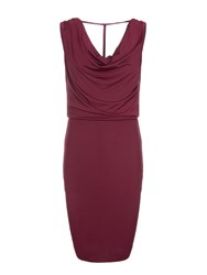 Relish Cowl Neck Dress Red
