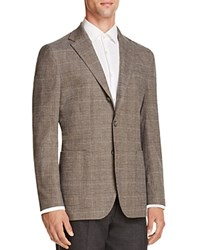 Hardy Amies Plaid Slim Fit Sport Coat Mink