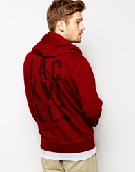 Jack Wills Hoody With Back Print Red