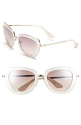 Women's Isaac Mizrahi New York 53Mm Geometric Sunglasses Ivory