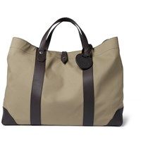 Dunhill Kempton Leather And Canvas Tote Bag Green