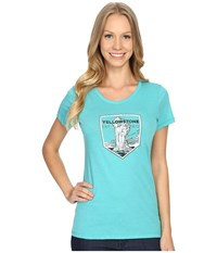 Columbia National Parks Tee Miami Heather Yellowstone Women's T Shirt Blue