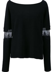 Dorothee Schumacher Lace Inset Jumper Black