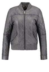 Pepe Jeans Kimy Leather Jacket Grey