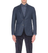Richard James Contemporary Fit Wool Blazer Airforce