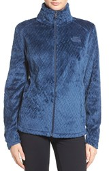 The North Face Women's Novelty Osito Fleece Jacket Shady Blue Basket Weave