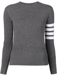 Thom Browne Striped Sleeve Sweater Grey