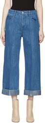 Each X Other Blue Wide Leg Jeans