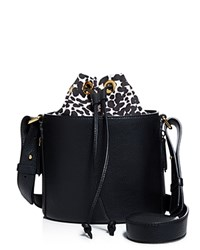 Boutique Moschino Leopard Print Bucket Bag Black Leopard