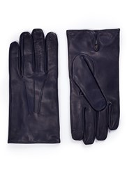 Merola Gloves Cashmere Lined Leather Short Blue