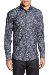Men's Maceoo 'Elegance Flower' Trim Fit Long Sleeve Sport Shirt