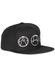 Mens Caps Black Scale Golden Shapes Black Snapback Cap