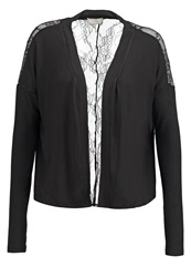 Cream Edie Cardigan Pitch Black