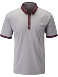 Ping Gilden Heather Polo Grey Marl