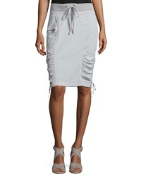 Xcvi Laelia Ruched Pencil Skirt Gray Stone