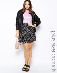Alice And You A Line Skirt With Zip Detail Black