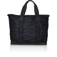 Barneys New York Women's Frayed Tote Blue