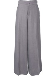 Rito High Waisted Palazzo Trousers Grey