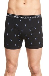 Men's Polo Ralph Lauren Cotton Boxer Briefs Active Pink Polo Black White
