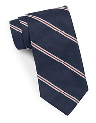 Brooks Brothers Classic Striped Tie Navy