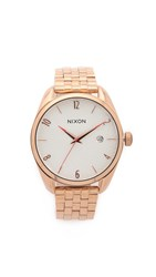 Nixon Bullet Watch All Rose Gold Silver