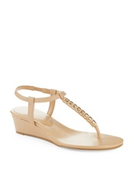 Bcbgeneration Jacey Thong Wedges Beige