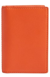 Skagen Men's 'Kvarter' Folding Card Case Orange Bright Orange