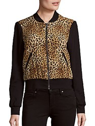 Baseball Collar Jacket Cheetah