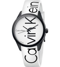 Calvin Klein Color Stainless Steel And Rubber Watch White