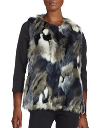 Collection 18 Faux Fur Vest Charcoal Grey