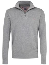 Tommy Hilfiger Atlantic Zip Jumper Silver Fog Heather