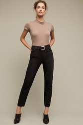 Anthropologie Ag Phoebe Ultra High Rise Slim Jeans Black