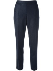 A.P.C. Tailored Cropped Trousers Blue