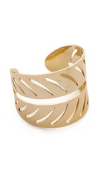 Rebecca Minkoff Safari Haze Leaf Cuff Bracelet Gold