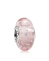 Pandora Design Pandora Charm Murano Glass Sterling Silver And Cubic Zirconia Pink Effervescence Moments Collection Silver Pink