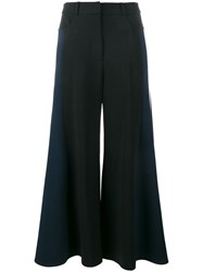 Peter Pilotto Cropped Wide Leg Trousers Black