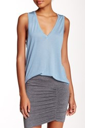 Bella Luxx Deep V Neck Tank Blue