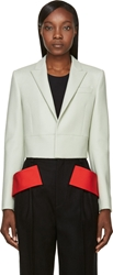 Givenchy Green Cropped Blazer