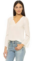 Ramy Brook Hadley Blouse White